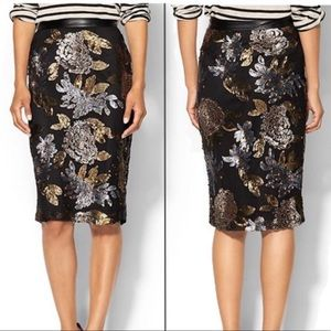 Nordstrom JOA Sequin Pencil Midi Skirt